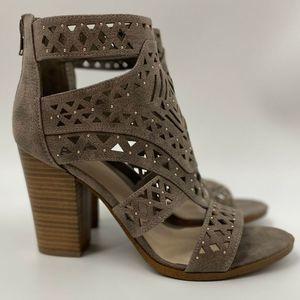 Fergalicious Vellum Laser Cut Heeled Sandal NEW